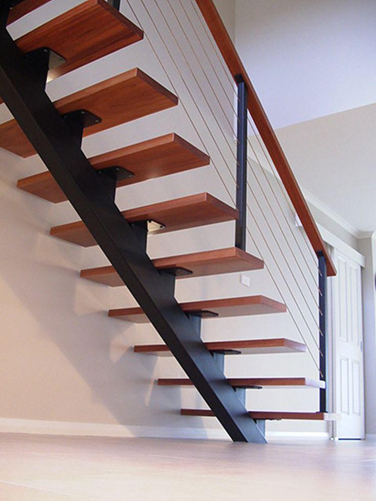 Best Steel Single Stringer Staircase Stairs Pinterest 400 x 300