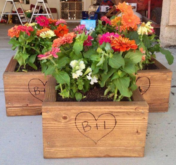 Centerpiece flower boxes good wedding ideas pinterest
