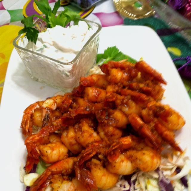 Roasted Buffalo Shrimp Recipe — Dishmaps