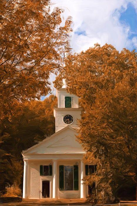 fine art america - church in autumn