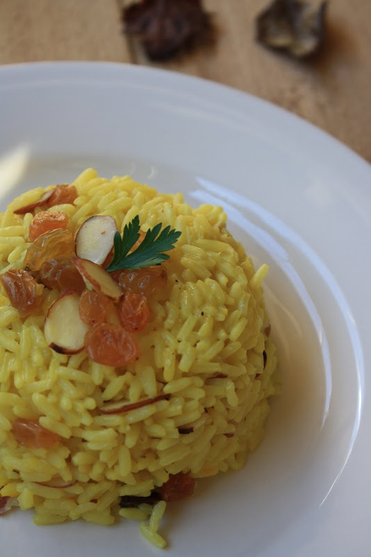 Saffron Rice w/ Almonds & Raisins | Rice, Curry, Quinoa and Noodles ...