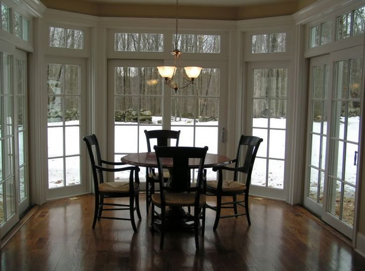 Dining room off of kitchen sunroom addition inspiration for Dining room off kitchen