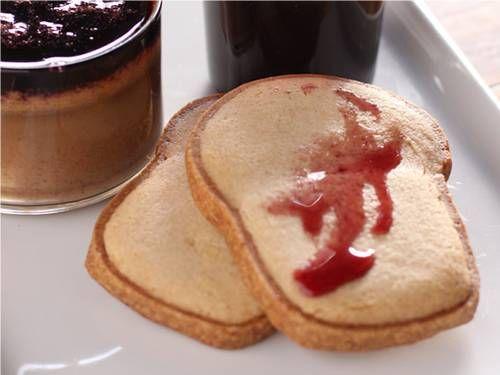Peanut butter pots de crème with red-wine suicide reduction for the ...