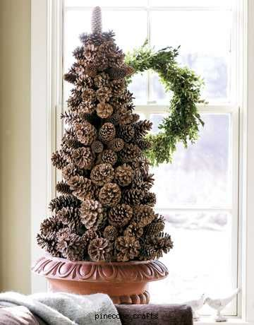 Pine cone tree christmas pinterest