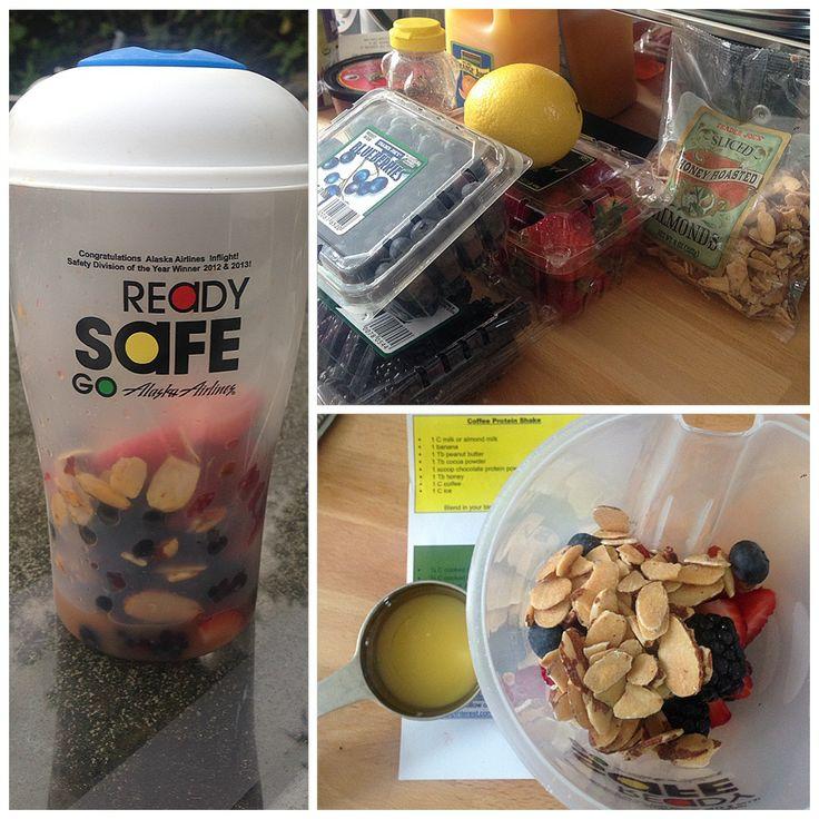 Triple Berry Nut Salad] ¼ C blackberries, ¼ C strawberries, ¼ C ...