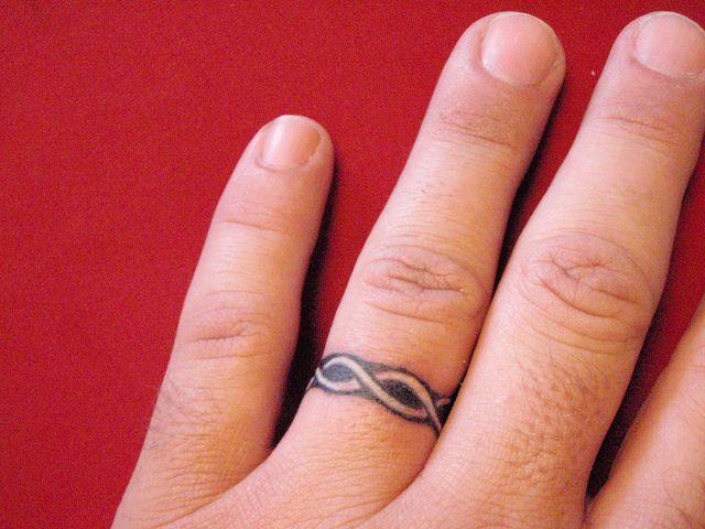 Wedding Ring Tattoos White Ink