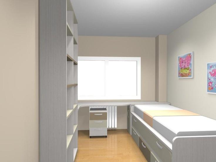 Pin by xikara on dormitorios juveniles habitaciones - Habitaciones juveniles espacios pequenos ...