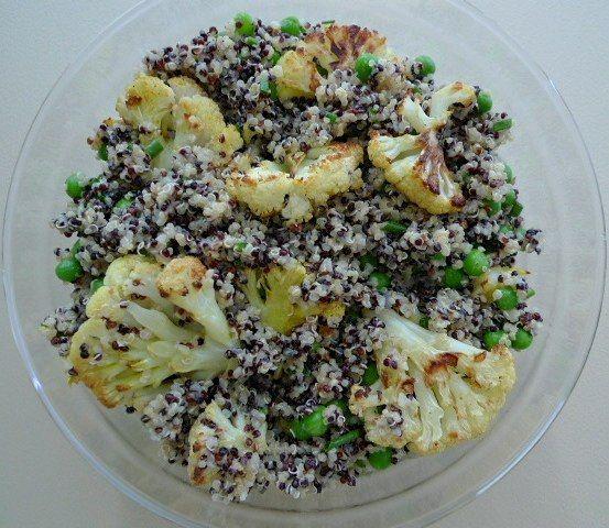 Red Quinoa, Cauliflower and Fava Bean Salad