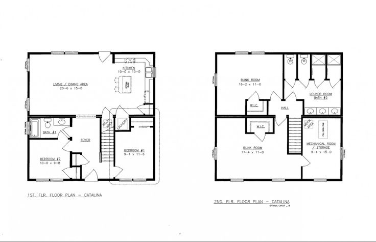 Bunkhouse Plans 2 Story Guests Of Guests Pinterest
