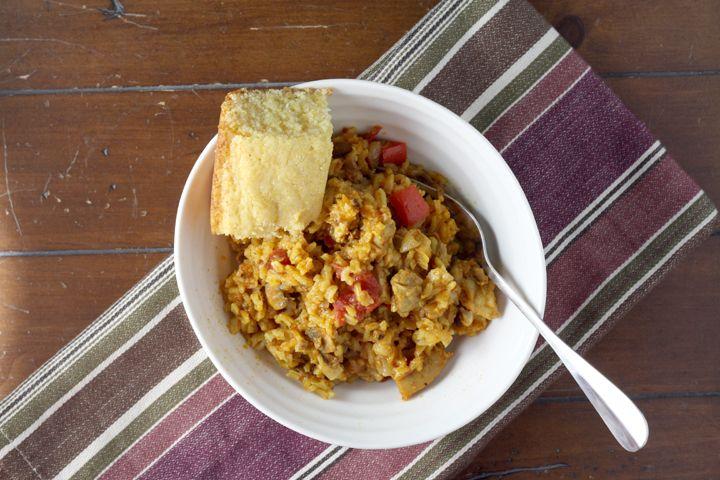 "Chicken and Chorizo ""Paella"" ~ www.ElephantEats.com"