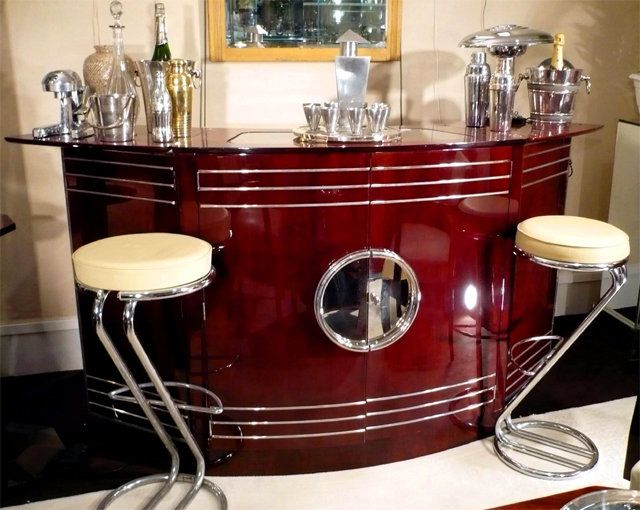 great art deco style bar art deco art nouveau arts crafts era de. Black Bedroom Furniture Sets. Home Design Ideas