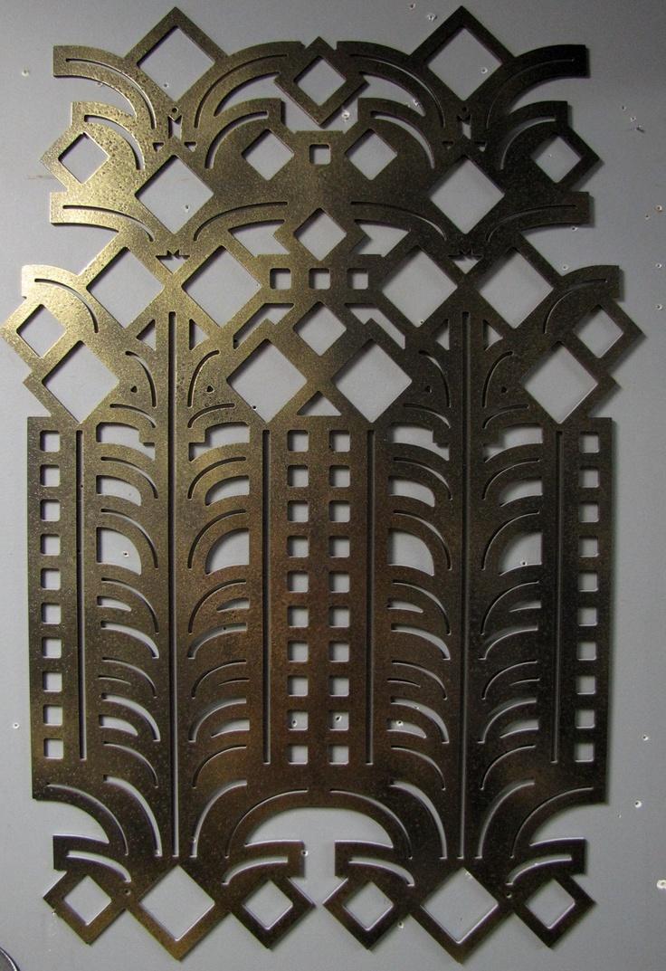 Deco metal wall art pattern inspiration pinterest for Deco metal mural