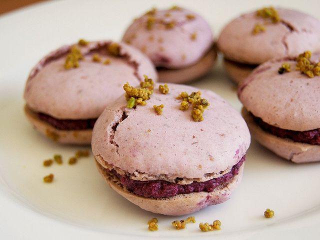 how to make macarons pumpkin macarons blueberry sorbet macarons ...