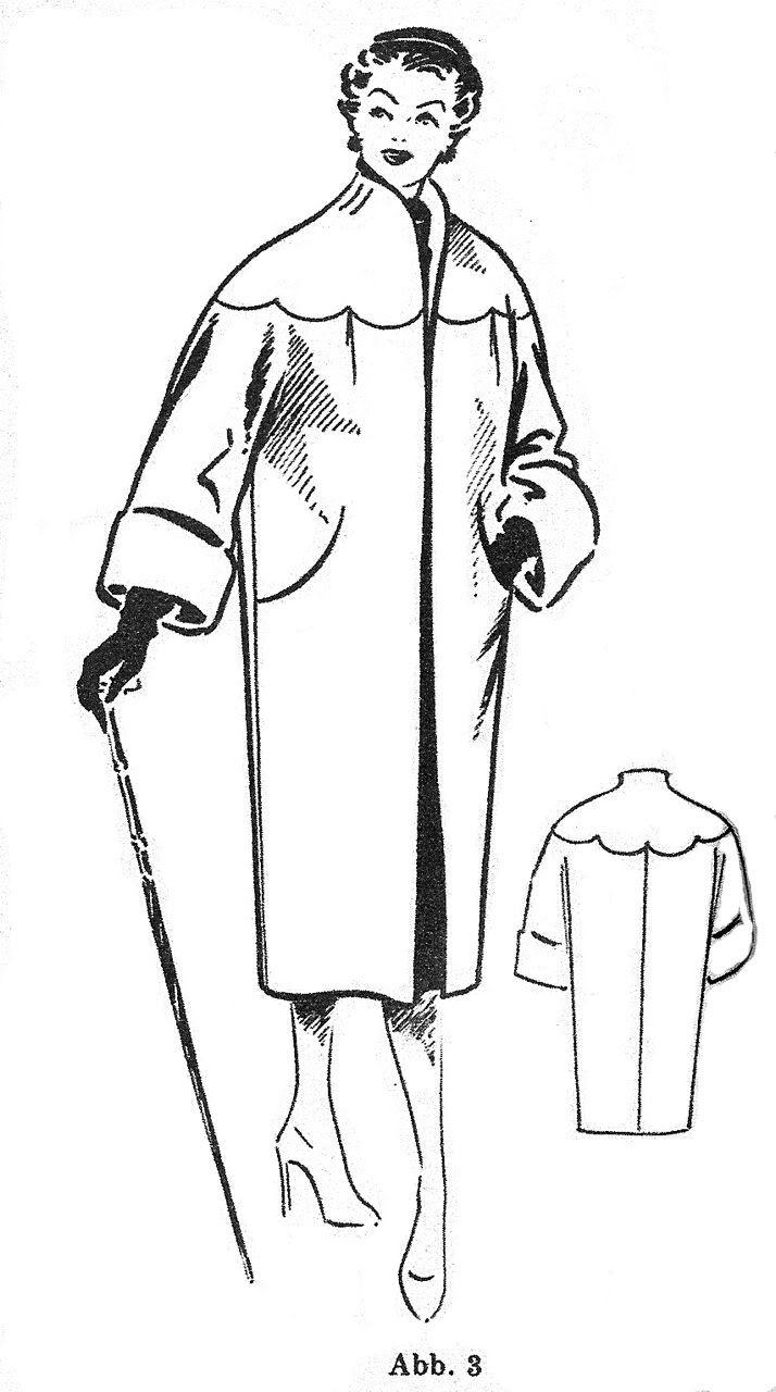 Выкройка ретро-пальто