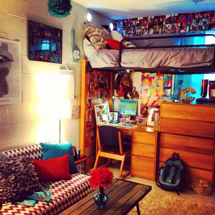 Dorm room college dorm ideas pinterest for College apartment bedroom ideas pinterest
