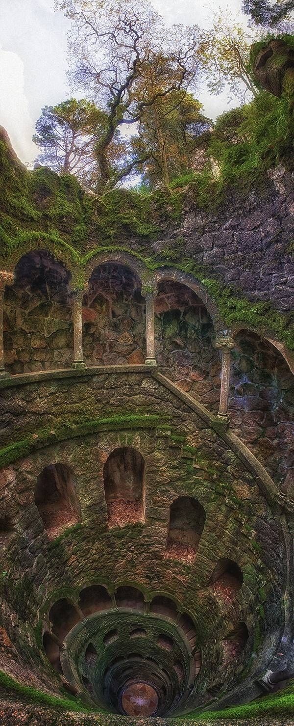 Breathtaking Places Around the World, The Iniciatic Well, Regaleira Estate, Sintra, Portugal