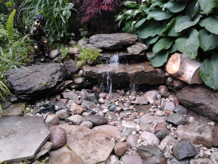 Diy Pondless Waterfall Garden Pinterest