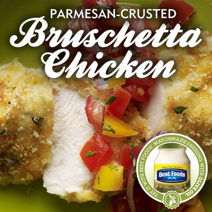 Parmesan-Crusted Bruschetta Chicken Is it cold out by you, too? Here's ...