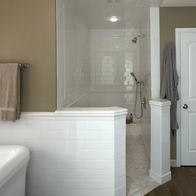 Bathroom Curbless Shower Design For The Home Pinterest
