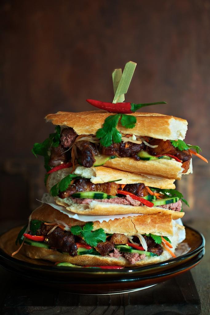Vietnamese Caramel Braised Pork Belly Banh Mi