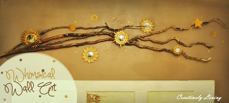 Creatively Living: Whimsical Branch Wall Art