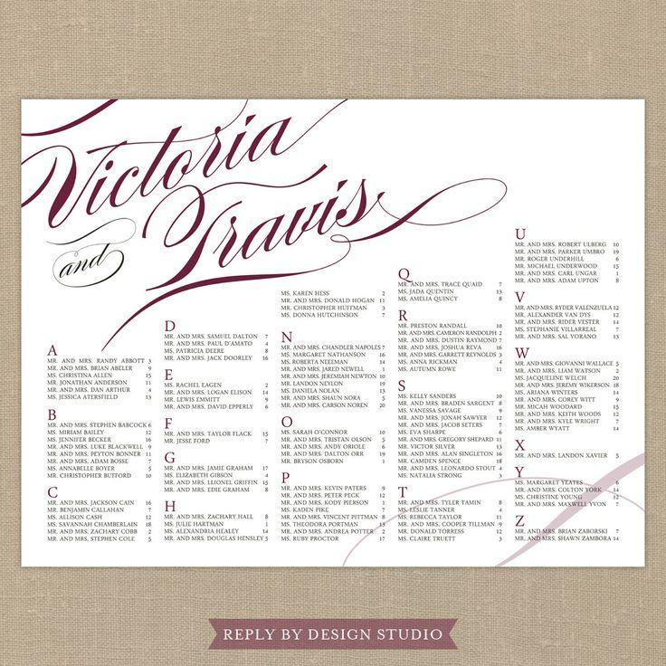 Wedding seating chart pirouette digital files diy customizable c