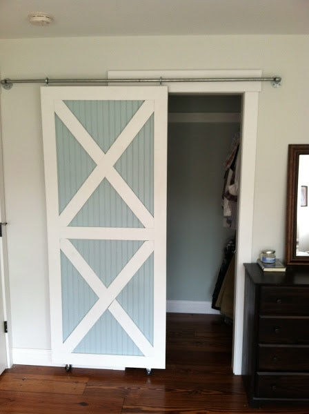 Sliding barn style closet door diy house ideas pinterest for Closet door ideas
