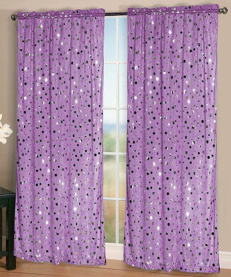 Purple Rock It Curtain Panel - Set of Two