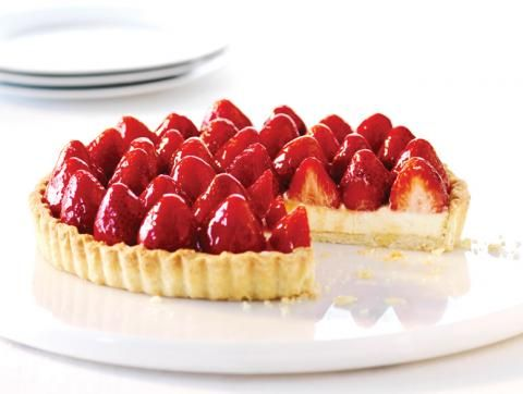 Strawberries and cream tart | Food & Recipes | Pinterest