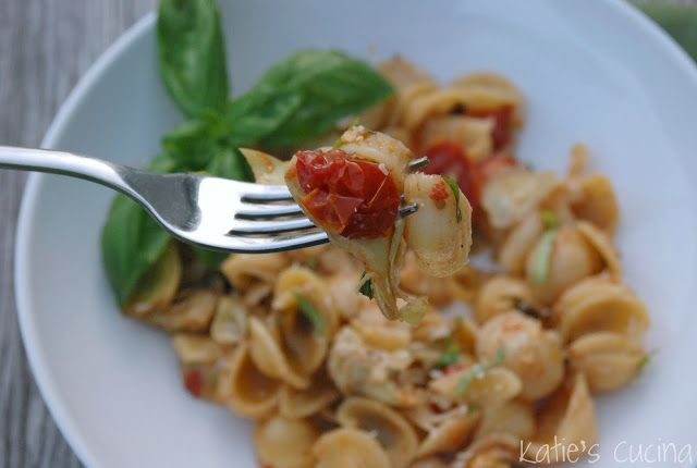 orecchiette with slow roasted tomatoes amp artichokes katie s cucina ...