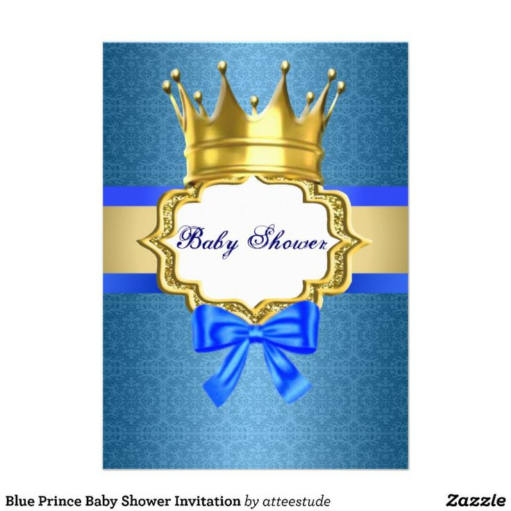 prince baby shower invitation