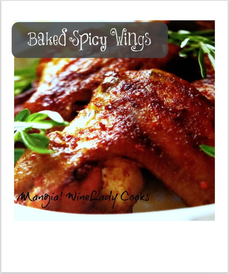 Baked Spicy Baked Buffalo Wings for game day | www.wineladycooks.com