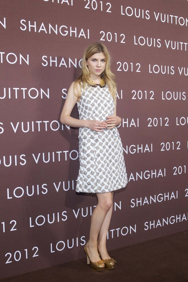 Clemence Poesy at Louis Vuitton Express in Shanghai.