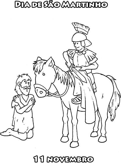 S. Martinho no seu cavalo.