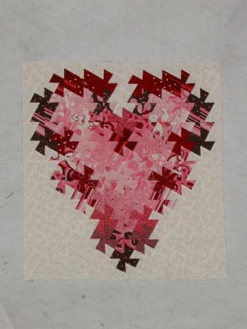 Twister Valentine Mini Quilt