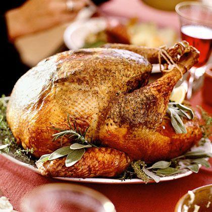 Lemon-Sage Turkey with Wild-Mushroom Gravy by Cooking Light