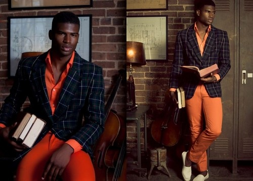 plaid & orange | Men's Style