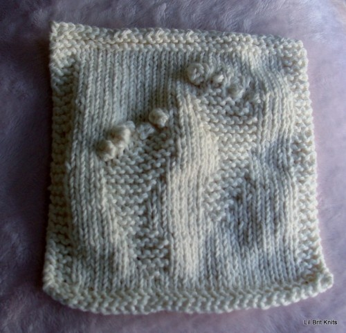 Knit Pattern Baby Washcloths : Hand knitted washcloth with Baby Feet Geeky knitting that I LOVE!