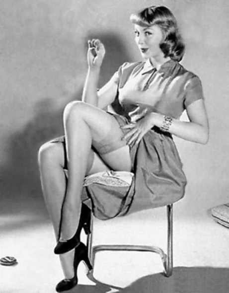 Busty free in model nylons pin up