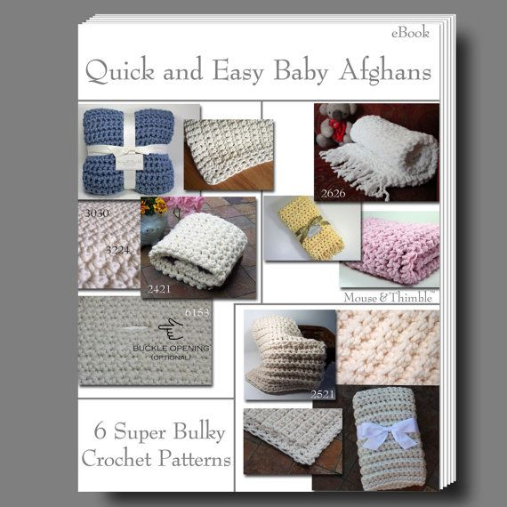 Quick Crochet Baby Pattern : 6 Baby Afghan Throws - Quick & Easy Crochet PATTERN eBOOK ...