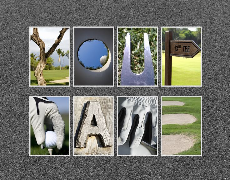 personalized golf letter art 11 x14 high definition print With personalized golf letter art