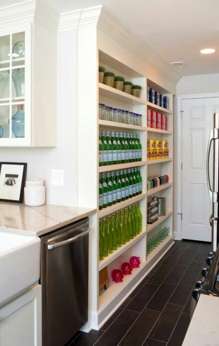 narrow open pantry shelves butler 39 s pantry food closet kitchen pa