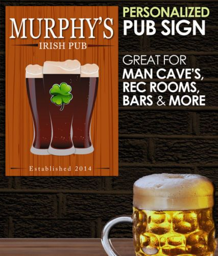 Irish Man Cave Signs : Irish pub personalized man cave home bar beer decor