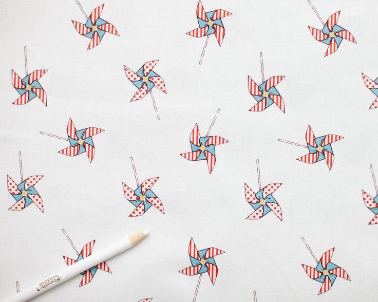 Children at Play - Pinwheels Michael Miller fabric