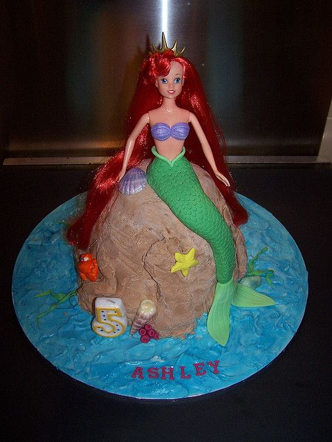 princess ariel doll cake