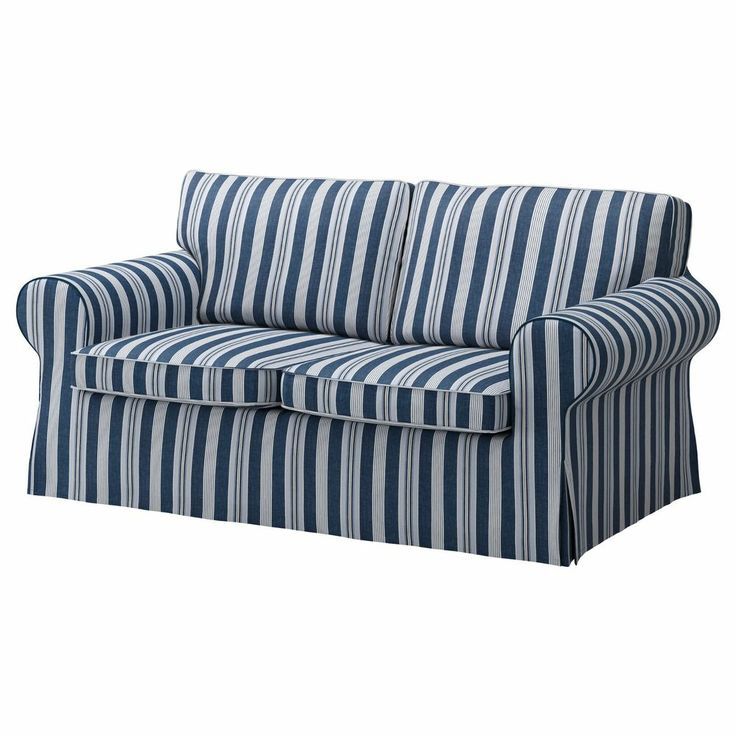 Ikea ektorp 2 seat sofa cover abyn blue loveseat slipcover byn strip Blue loveseat slipcover