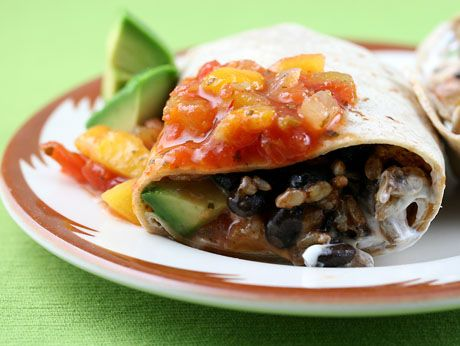 black bean and brown rice burrito, You know Taco Bell has this same ...