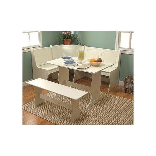 breakfast nook dining room table chair booth seat set corner bench wh