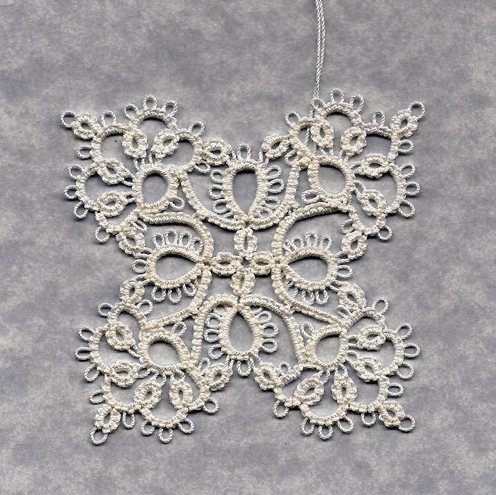 Free+Tatting+Patterns+Print+Out Butterfly Snowflake. Book: Tatting by ...