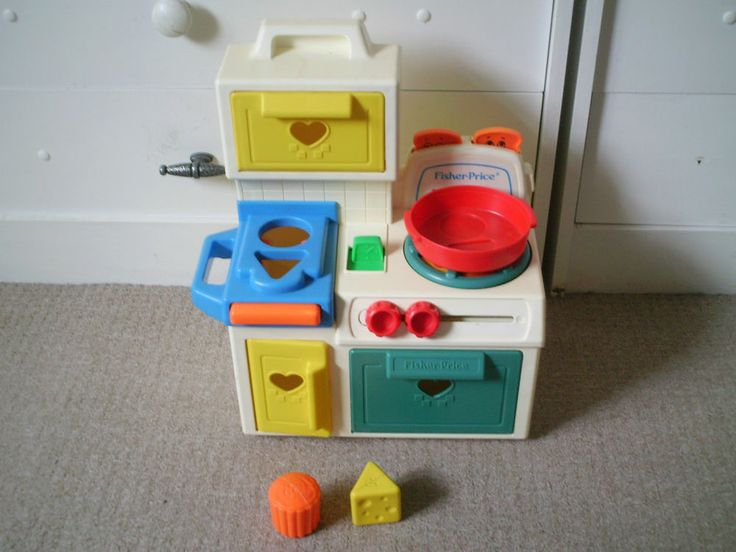 vintage fisher price kitchen unit 1035 all features working